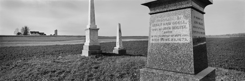 Welcome, Hope Township, Ontario.  Tombstones, Walker Family Cemetery