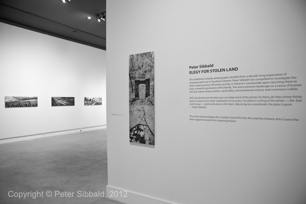 Elegy for a Stolen Land: opening January 15, 2012